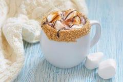 Chocolate quente de Smores fotografia de stock