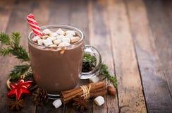 Chocolate quente do Natal fotografia de stock