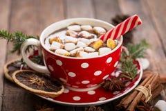 Chocolate quente do Natal fotografia de stock royalty free