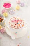 Chocolate quente do unicórnio Imagem de Stock