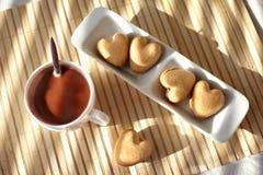 Chocolate quente e biscoitos Foto de Stock Royalty Free