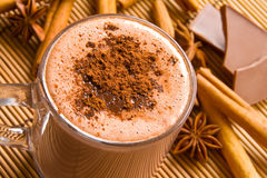 Chocolate quente e especiarias fotos de stock royalty free