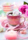 Chocolate quente e marshmallow Imagens de Stock Royalty Free