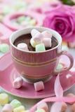 Chocolate quente e marshmallow Imagem de Stock Royalty Free