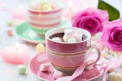 Chocolate quente e marshmallow Foto de Stock Royalty Free