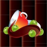 Chocolate quente em um círculo ilustração do vetor
