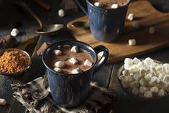 Chocolate quente escuro caseiro foto de stock royalty free