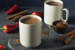 Chocolate quente mexicano picante do feriado caseiro Fotografia de Stock