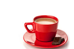 Chocolate quente no branco Imagens de Stock