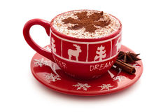 Chocolate quente para o dia de Natal Fotografia de Stock Royalty Free