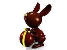 Chocolate rabbit Stock Photography