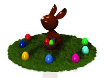 Chocolate rabbit Royalty Free Stock Photo