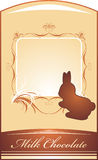 Chocolate rabbit. Background for wrapping Stock Image