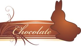 Chocolate rabbit. Banner Stock Images