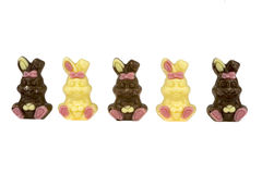 Chocolate rabbits Stock Photo
