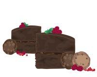 Chocolate and raspberries Royalty Free Stock Photo