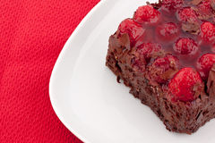 Chocolate raspberry cake Royalty Free Stock Photo