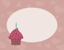 Chocolate raspberry cupcake background Royalty Free Stock Images