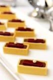Chocolate raspberry tart Stock Photography