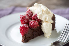 Chocolate Raspberry Torte Royalty Free Stock Photography