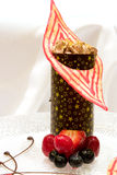Chocolate Raspberry Tower Royalty Free Stock Images