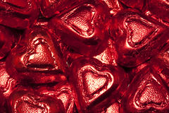 Chocolate Red Hearts Stock Photo