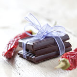 Chocolate and red pepper Stock Photography