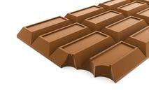 Chocolate rendido no branco ilustração stock