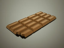 Chocolate rendido no branco ilustração do vetor