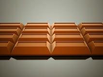 Chocolate rendido no fundo escuro ilustração do vetor