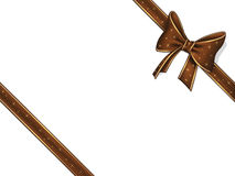 Chocolate ribbon and bow Stock Photo