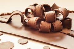 Chocolate Ribbons Stock Photo