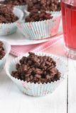 Chocolate rice cakes Royalty Free Stock Photos