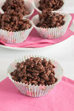 Chocolate rice cakes Stock Photography
