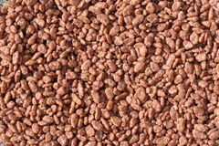 Chocolate rice cereal texture background royalty free stock photography