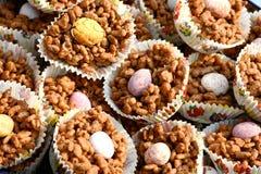 Chocolate Rice Crispies Foto de archivo libre de regalías