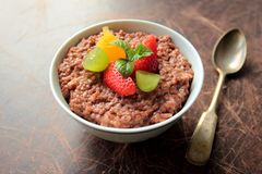 Chocolate rice pudding Stock Photography