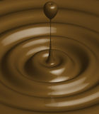 Chocolate ripple Stock Photo