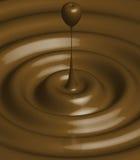 Chocolate ripple Stock Photo