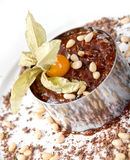 Chocolate risotto dessert Royalty Free Stock Photos