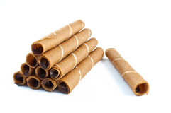 Chocolate roll Stock Image