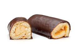 Chocolate Roll Biscuits Stock Images