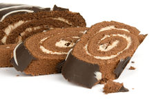 Chocolate roll cake Royalty Free Stock Photo