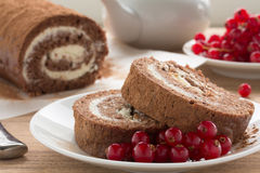 Chocolate roll Stock Photography