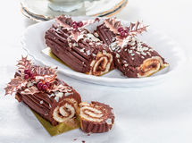 Chocolate roll Royalty Free Stock Image