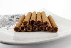 Chocolate roll stick Royalty Free Stock Photo
