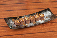 Chocolate roll Royalty Free Stock Photography
