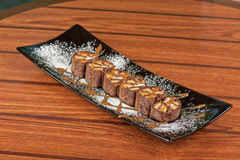 Chocolate roll Stock Images
