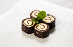 Chocolate rolls Stock Images