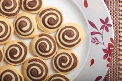 Chocolate rolls. Stock Images